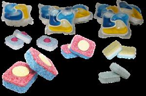 Le pastiglie per lavastoviglie fai da te